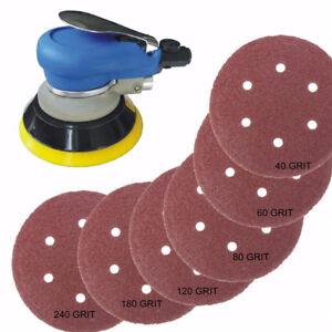 Dischi abrasivi 25pcs 6 Inch Velcro Sanding 40 60 80 120 180 240 Grit Sanding