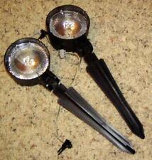Lot of 2 Malibu Spot Lights Low Voltage LX9Z Zoom Floodlight 4 watt bulb ML90401