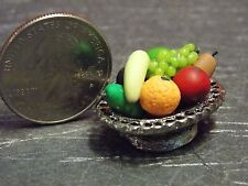Dollhouse Miniature Fruit Bowl Food Silver 1:12 1 inch scale F14 Dollys Gallery