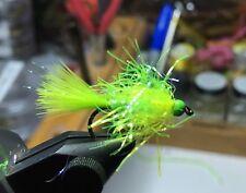 (6) Tungsten Bead Head Chartreuse UV Estaz Monster Egg Flies For Steelhead