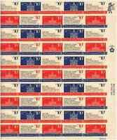 Scott #1543/6.. 10 Cent..  Bicentennial Era...  Sheet of 50  @ FV+ $1