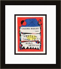 Joan MIRO Antique Maeght Gallery MIRO and ARTIGAS Exhibition Poster FRAMED COA