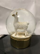 Talking Tables Boho Llama Gold Glitter Snow Globe