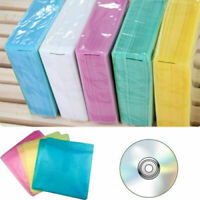 100 CD DVD BLURAY MUSIC PAPER SLEEVES SLEEVE DOUBLE NEW STORAGE SIDE COVER Y8J7