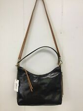 f1b769acd Hobo Bags Delilah Black Leather Purse Crossbody Shoulder Bag Retail