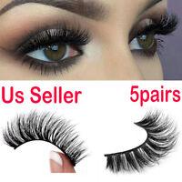5 Pairs Lilly Miami 3D Full Strip Lashes 100% Real Siberian Mink Strip Eyelashes