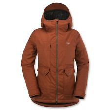 Volcom Women Era Snowboard Jacket (M) Burnt Sienna