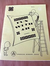 VTG 1984 Fun w 4H CLOTHING II Booklet NMSU Coop Susan Wright Textile Specialist