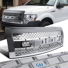 2009-2014 Ford F150 Pickup Raptor Style Chrome Front Hood Grill Grille w/ Shell