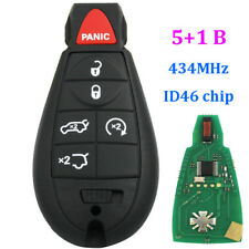5+1 buttons Remote Key fob For Jeep Commander Grand Cherokee 433mhz ID46 chip