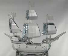 1991 SWAROVSKI CRYSTAL SANTA MARIA SAILING SHIP W/ BOX