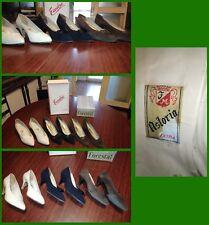 Gruppo 3 paia scarpe donna camoscio-pelle-lucertola anni 50 CONDIZIONI OTTIME