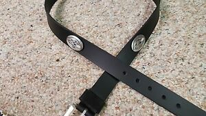 Baltimore Ravens Leather Mens Belt Black with Conchos Size 28 to 46