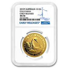 2019 AUS 1 oz Gold $100 Dolphin MS-70 PCGS First Strike SKU#180696