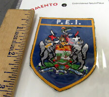 Prince Edward Island PEI Canada beautiful Embroidered iron on Patch coat of arms