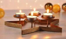 Teelichthalter Stern Adventsdeko Adventskranz Teelicht Kerzen Tablett Metall