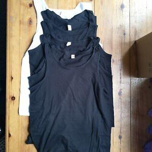 6 Vests Mens Vests Sleeveless 100% Cotton Summer Tank Top Gym Pack Plain B