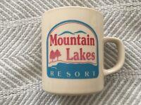 Vintage Mountain Lakes Resort Ceramic Coffee Tea Mug EUC!