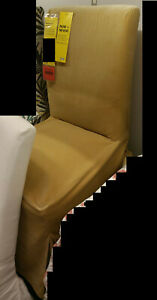 IKEA Djuparp Yellow-Beige Cover for HENRIKSDAL Chair Long Skirted Slipcover Gold