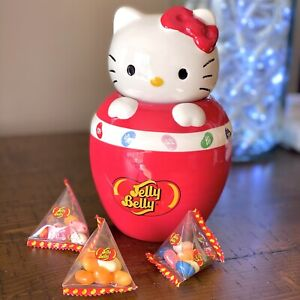 Hello Kitty Jelly Belly Ceramic Candy Jar Red