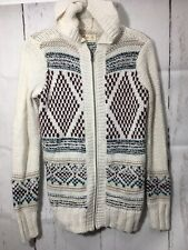 Chunky Hollister Full Zip Hooded Cardigan Sweater XS