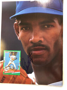 Beckett Baseball Card  April 1991 #73 Signed Ramon Martinez Rickey Henderson