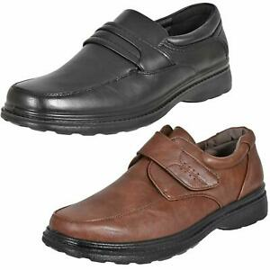 Mens Casual Shoes Easy Touch Fasten Orthopaedic Comfort Extra Wide Fit Shoes UK
