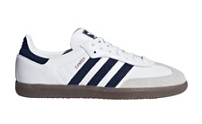 US:11  adidas Originals Men's  Iconic  SAMBA SNEAKERS  Collegiate NAVY LAST1