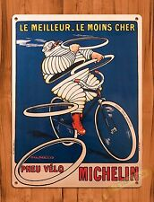 TIN-UPS TIN SIGN Michelin Man Bicycle Tires Vintage Garage Roosevelt French