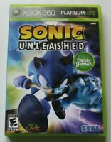 Sonic Unleashed (Microsoft Xbox 360, 2008) Case disc tested