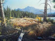 Larry Dyke Joshua 2:22 Mountain Landscape Forest Frontier Men Trees Signed Only