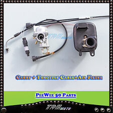 YAMAHA PW50 CARBURETOR+ MATCHING THROTTLE CABLE + AIR FILTER Y-ZING PEEWEE 50CC
