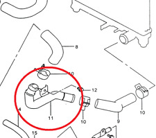 NEW Genuine Suzuki JIMNY Cooling Radiator BOTTOM Pipe Metal OUTLET 17860-81A00
