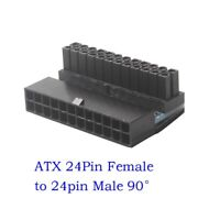 Female ATX 24Pin to 24pin Male 90 Degree Power Adapter Mainboard Motherboard