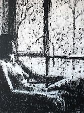 Modern Artwork Print of a nude woman painted in black and white