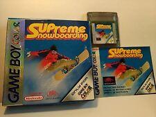 Supreme Snowboarding -  Gameboy Game Boy Color(Box,Cartridge,Manual)CGB AXWP EUR