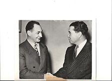 1945 PRESS PHOTO NOTRE DAME FOOTBALL COACH HUGH DEVORE AND EX COACH ED MCKEEVER