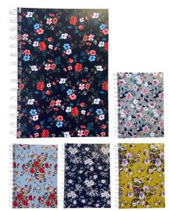 Various Premium Floral Print A5 Lined Notepads 80gsm 70 Sheets