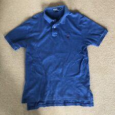 Authentic Men's Ralph Lauren Blue Polo Shirt Size Medium 100% Cotton