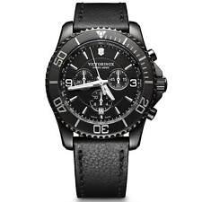 Victorinox Swiss Ejército Maverick Para Hombre Cronógrafo Reloj Correa Negra 241786