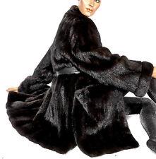 XL 2XL Vintage Nerzjacke dunkel braun Pelzjacke Nerzmantel mink fru jacket dark