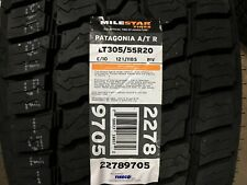 4 LT  305/55R20 Milestar Patagonia A/T R Tires 3055520 MT 33 12.50 20 10ply OWL