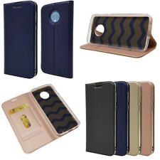For Motorola Moto G5 G5S G6 Plus PU Leather Flip Case Card Wallet Magnetic Cover
