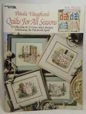 Paula Vaughan's Quilts For All Seasons Cross Stitch 12 Designs Book 56 #2539