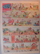 Mickey Mouse Sunday Page by Walt Disney from 6/22/1941 Tabloid Page Size
