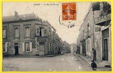 cpa RARE 53 - Village de DAON (Mayenne) Le BAS du BOURG Hôtel POIRIER Café