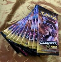 10x Pokemon Champion's Path Booster Packs FACTORY SEALED BRAND NEW