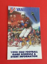 1990 Canadian University CIAU/CIS/Usports Football Pocket Schedule