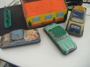 GLAM TOYS TIN PLATE TOY CAR 3 MADE IN UK IN  1950/60s