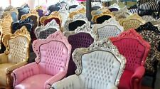 poltrona trono in stile barocco rivisitato scegli il colore giusto per te